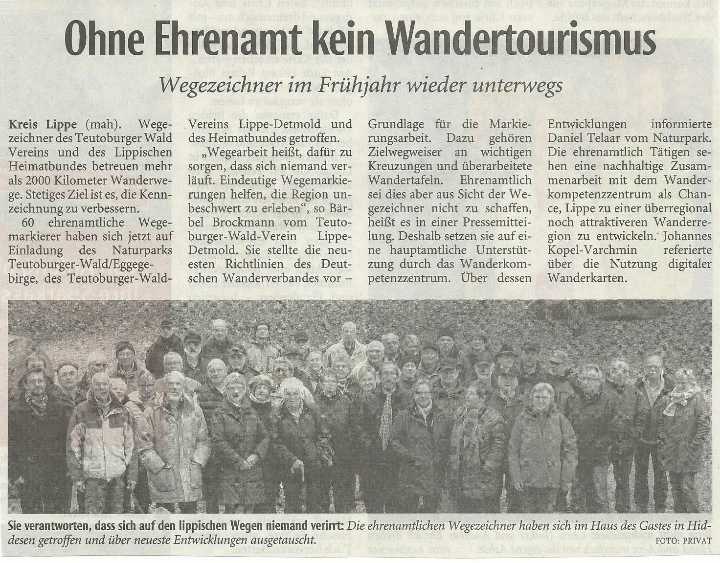 Lippische-Landeszeitung vom 27. März 2015