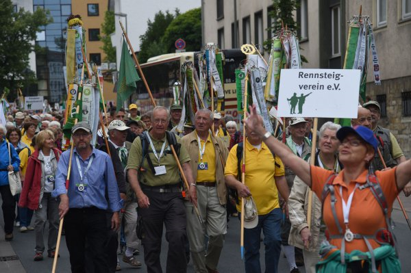 lippe kreis freut sich  gaeste deutschen wander